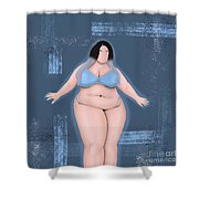 Honor My Curves Shower Curtain