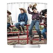 Honoring A Fallen Cowboy Shower Curtain