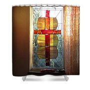 Honoring Mother Father God Shower Curtain