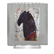 Honoring Red Cloud Shower Curtain by Johanna Elik