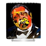 Honoring The King 1925-2015 Shower Curtain