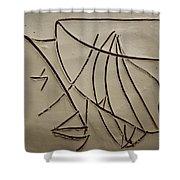 Honour - Tile Shower Curtain