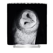 Hoo Are You Barn Owl Photo Shower Curtain