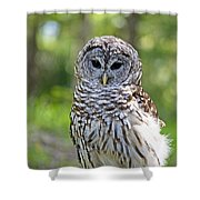 Hoo Are You Shower Curtain