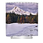 Hood On Ice Shower Curtain