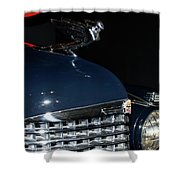 Hood Ornament-1938 Cadillac V-16 Town Sedan Shower Curtain