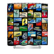 Hood Ornament Art -10 Shower Curtain