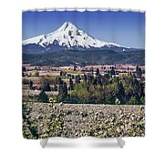 Hood River Orchards Shower Curtain