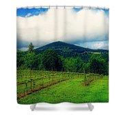 Hood River Oregon - Cloud Burst Over The Vineyard Shower Curtain