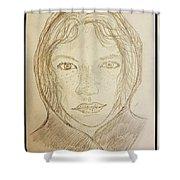 Hooded Girl  Shower Curtain