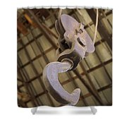 Hook And Pulley Shower Curtain
