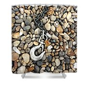 Hook, Chain And Pebbles Shower Curtain