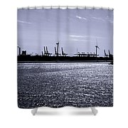 Hook Of Holland Shipping Canal Shower Curtain