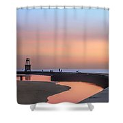 Hook Pier Lighthouse - Chicago Shower Curtain