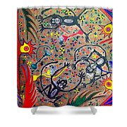 Hookah Monkeys - Jinga Monkeys Series Shower Curtain