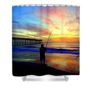 Hookedup Color Explosion 31316 Shower Curtain