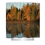 Hooker Lake Reflections Shower Curtain