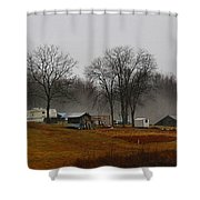 Hooker Road In The Fog 1 Shower Curtain