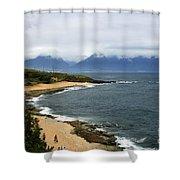 Hookipa Beach Maui North Shore Hawaii Shower Curtain