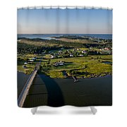Hoopers Island By Air Shower Curtain