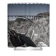Hoover Dam Bridge Shower Curtain