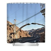 Hoover Dam Bypass Highway Under Construction Shower Curtain