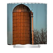 Hoover Pumps Atop Silo Shower Curtain