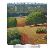 Hoover Tower In Sight Shower Curtain