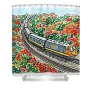Hop On A Train Shower Curtain