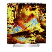 Hope Above Broken Skies Shower Curtain
