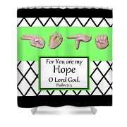 Hope - Bw Graphic Shower Curtain