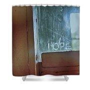 Hope In Prison Door Shower Curtain