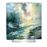 Hope In The Storm I Shower Curtain