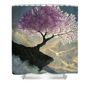 Hope Inclines Shower Curtain by Rosario Piazza