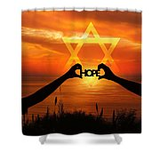 Hope - Painted Shower Curtain