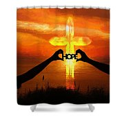 Hope - Painting Shower Curtain