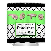 Hope Spanish - Bw Graphic Shower Curtain