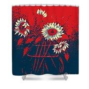 Hope Sunflowers  Shower Curtain