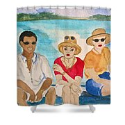 Hope Town Ferry  Shower Curtain