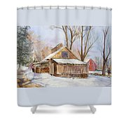 Hope Valley Sugar House Shower Curtain
