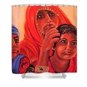 #hopeful In India Shower Curtain