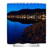 Hopfensee Lake Landscape Shower Curtain