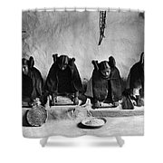 Hopi Grinding Grain, C1906 Shower Curtain