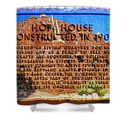 Hopi House And Dedication Plaque Shower Curtain