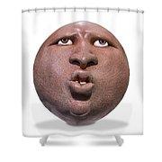Hopi Mask  Two Knockout Shower Curtain