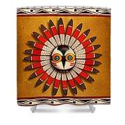 Hopi Owl Mask Shower Curtain