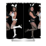 Hoppy Easter - Gently Cross Your Eyes And Focus On The Middle Image Shower Curtain