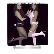 Hoppy Easter - Use Red-cyan 3d Glasses Shower Curtain