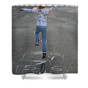 Hopscotch Queen Shower Curtain
