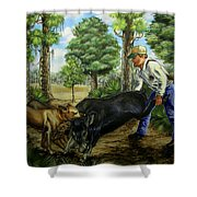 Horace's Hunt Shower Curtain